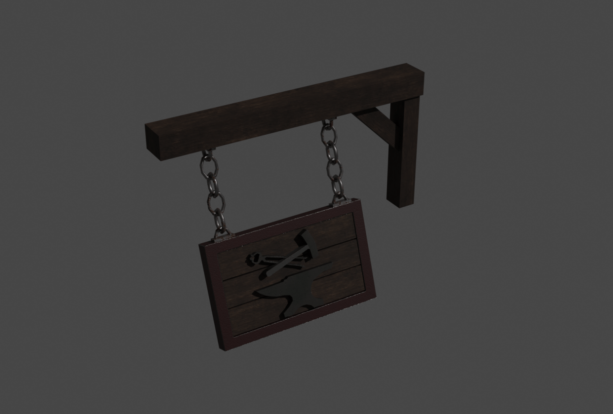 Blacksmith sign - student project