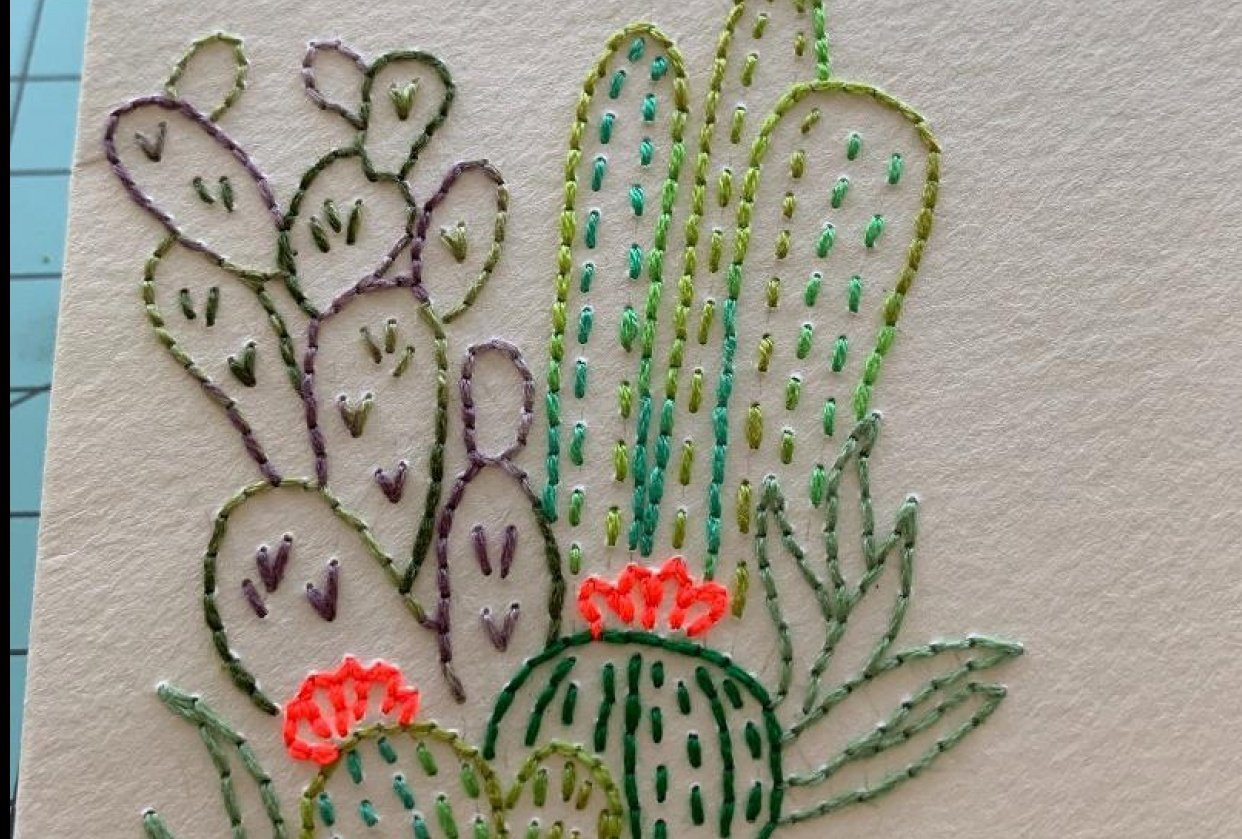Paper Embroidery - student project