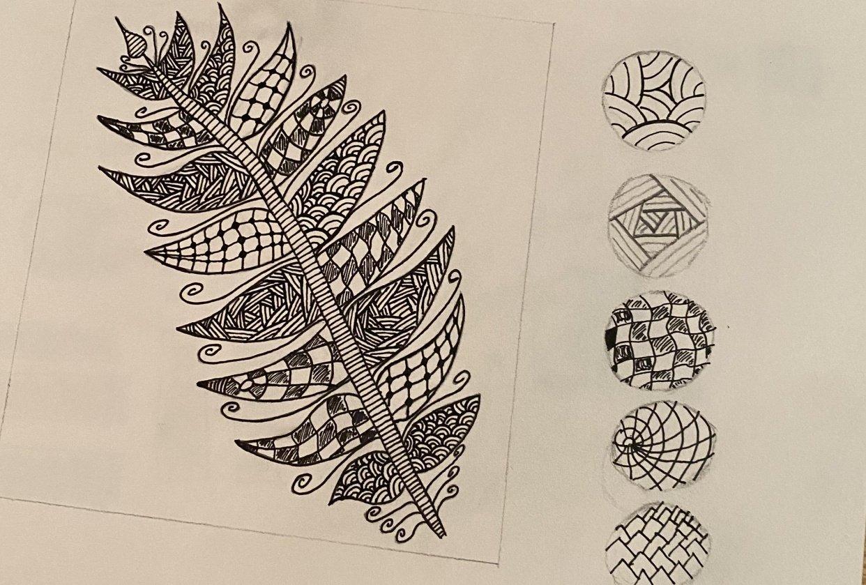 Zentangle Pinapple - student project