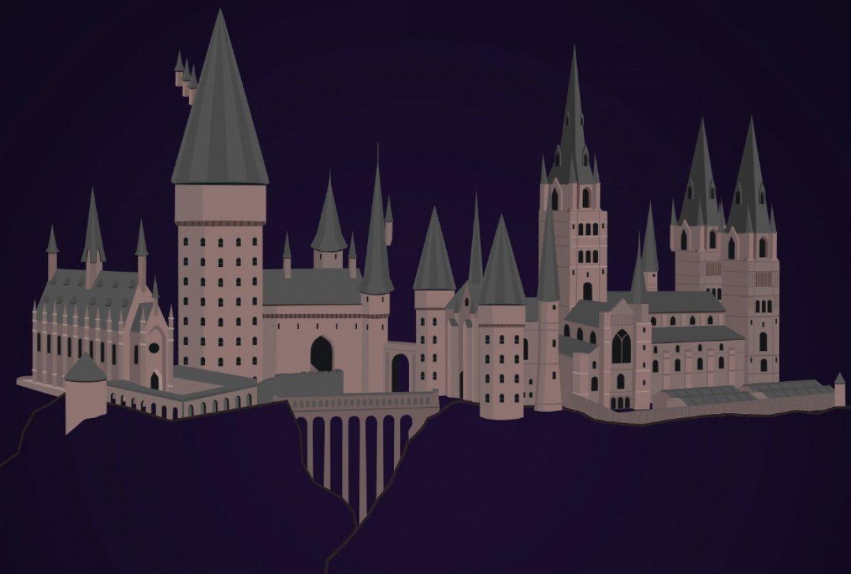 Harry Potter - Hogwarts Castle - student project