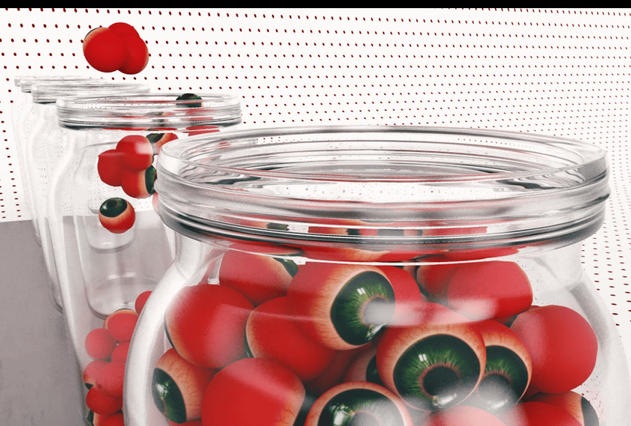 Eyeballs In Jar - student project