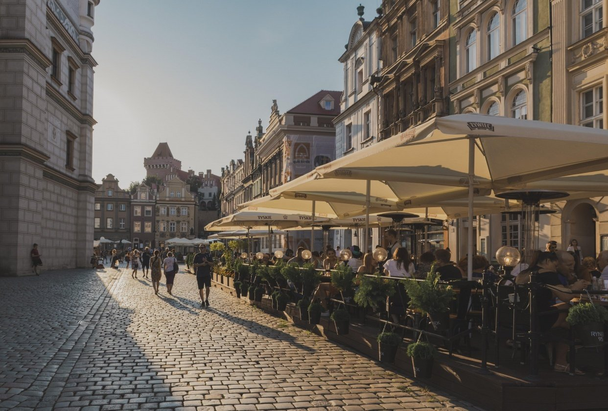 Summer days in Poznan, Poland - student project