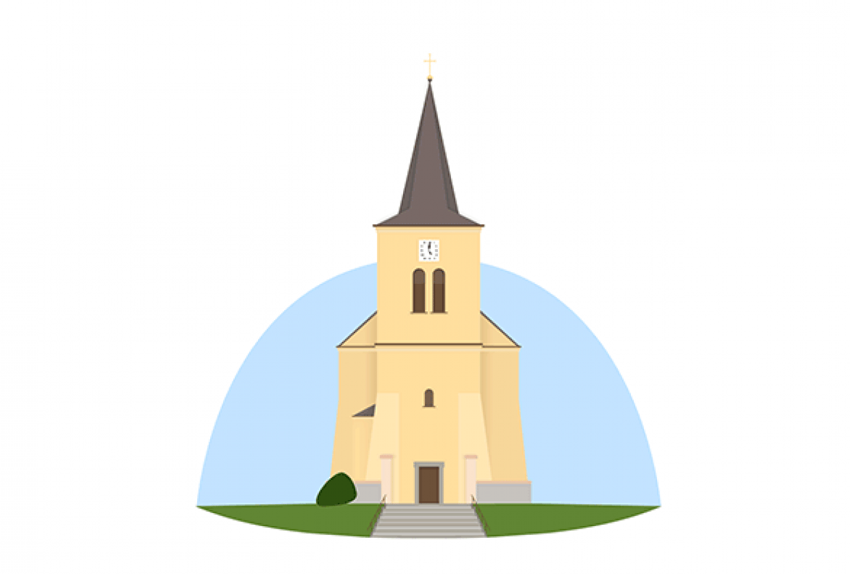 Our village Church - student project