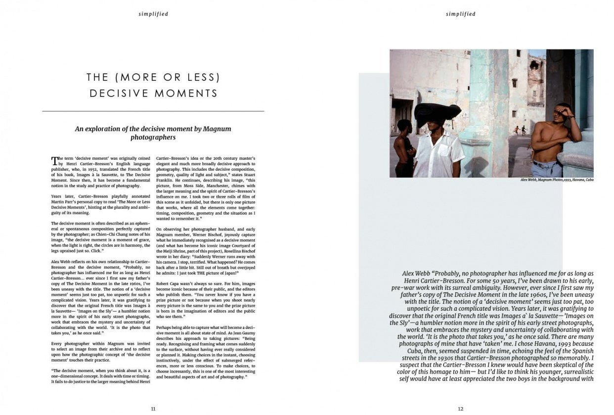 Simplified - magazine spread - student project
