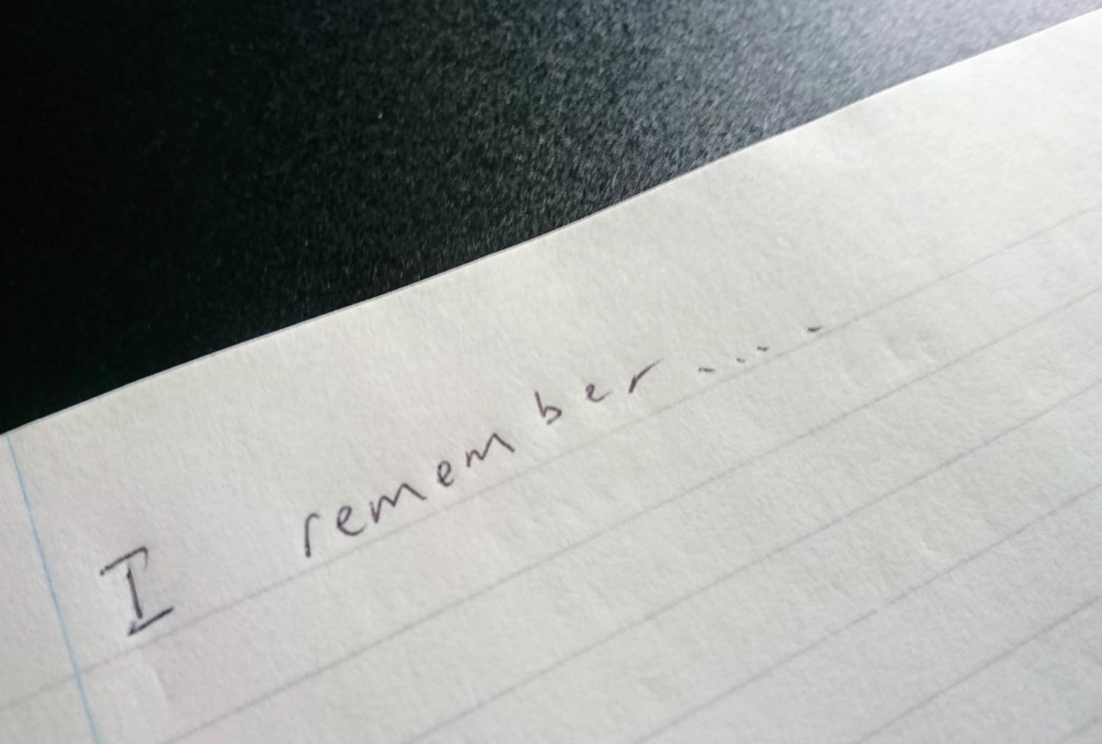 I Remember... - student project