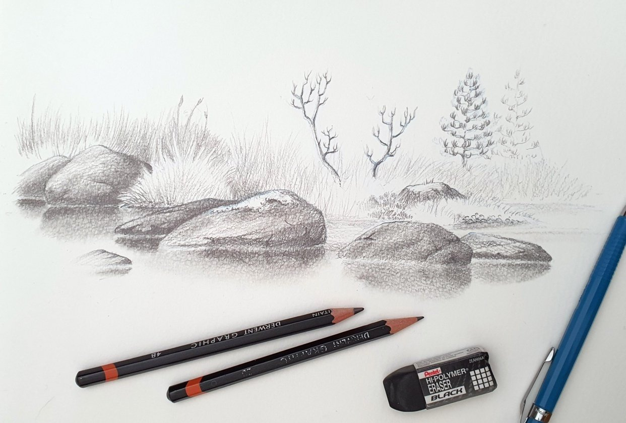 Rock Sketches - student project