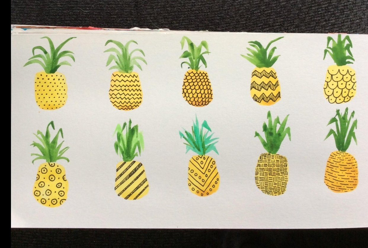 Pretty Patterned Pineapples - student project