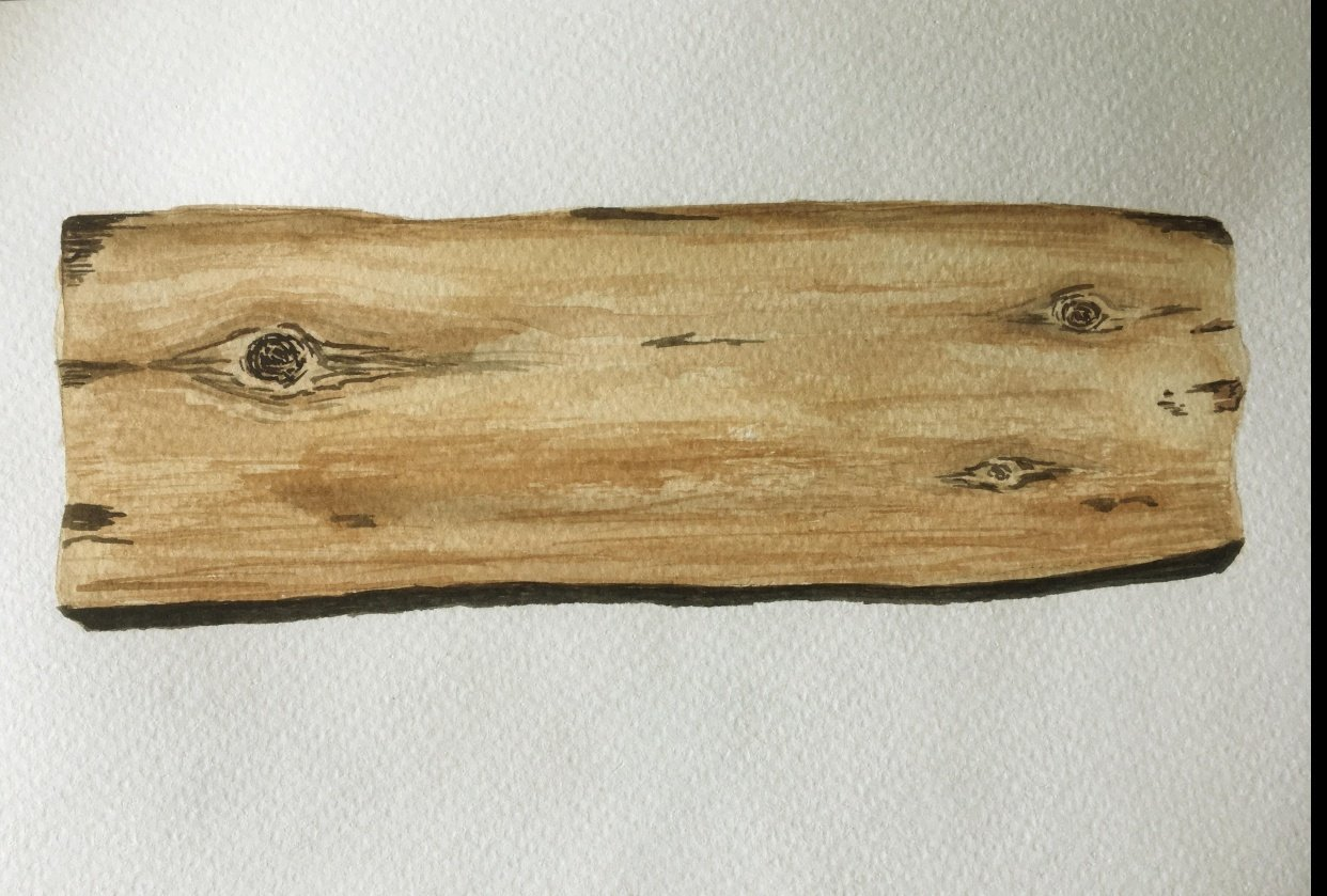 How to Paint wood - student project