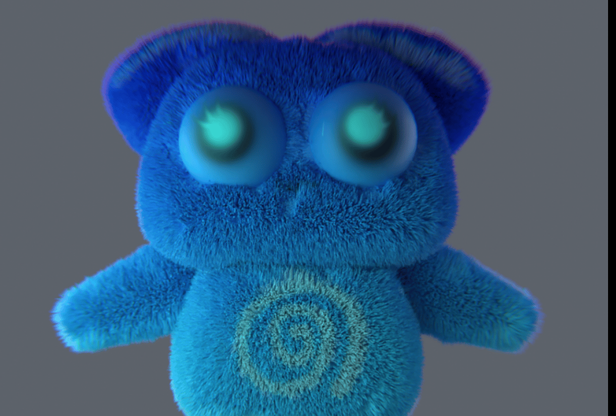 My first 3D character (Toopy Loopy) - student project