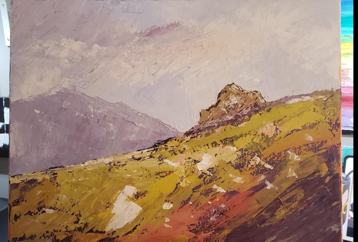 Landscape painting - student project