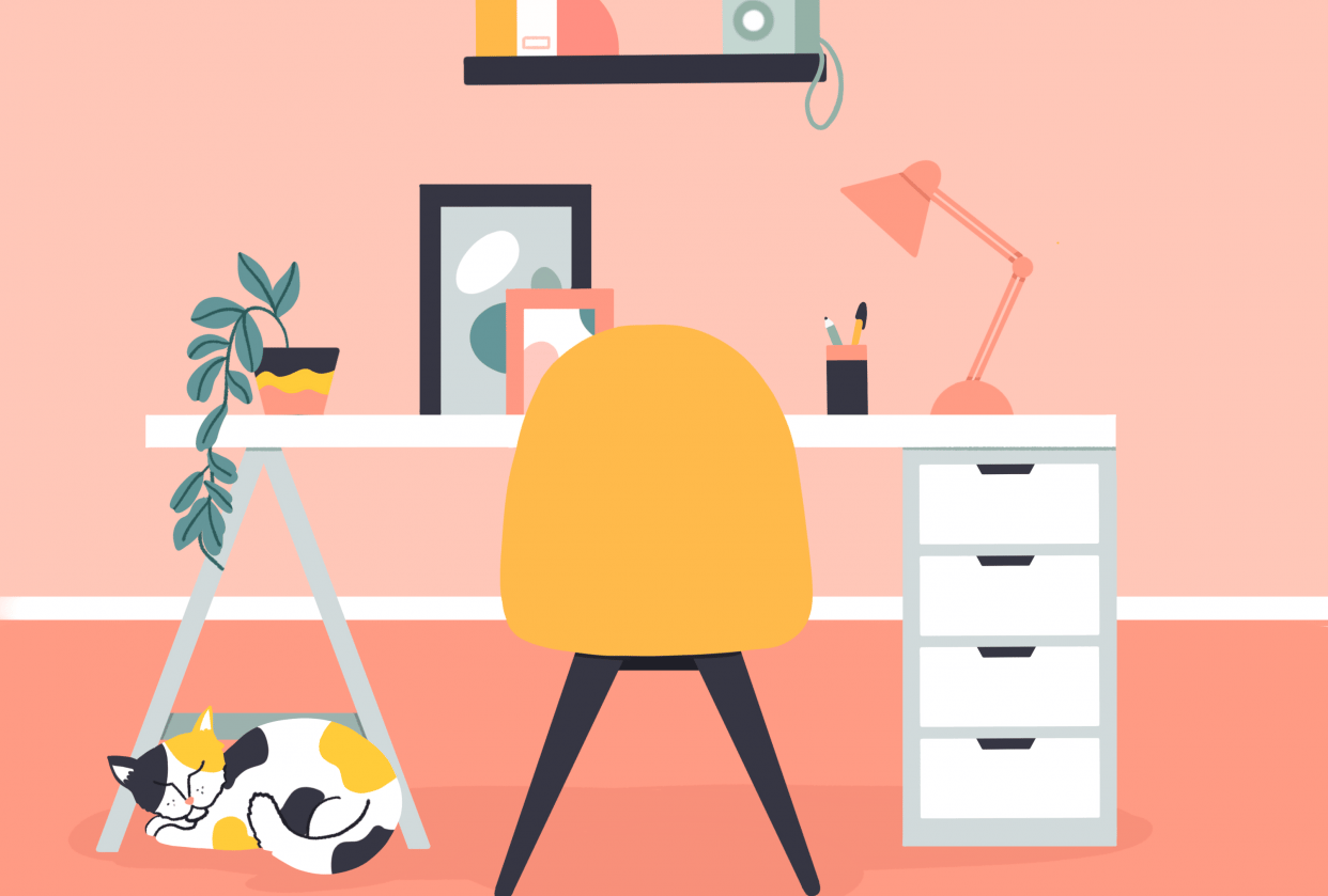 Colorful Home Office - student project