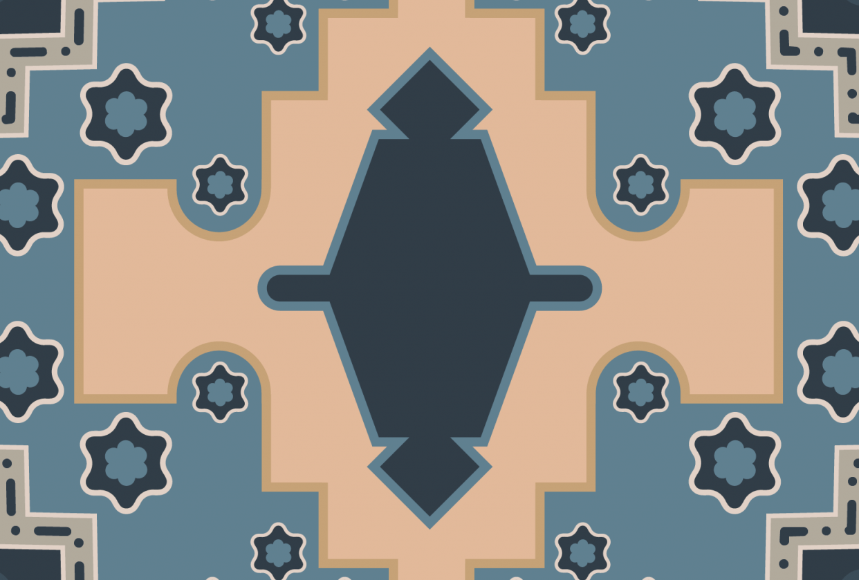 An Oriental rug without the pen tool - student project