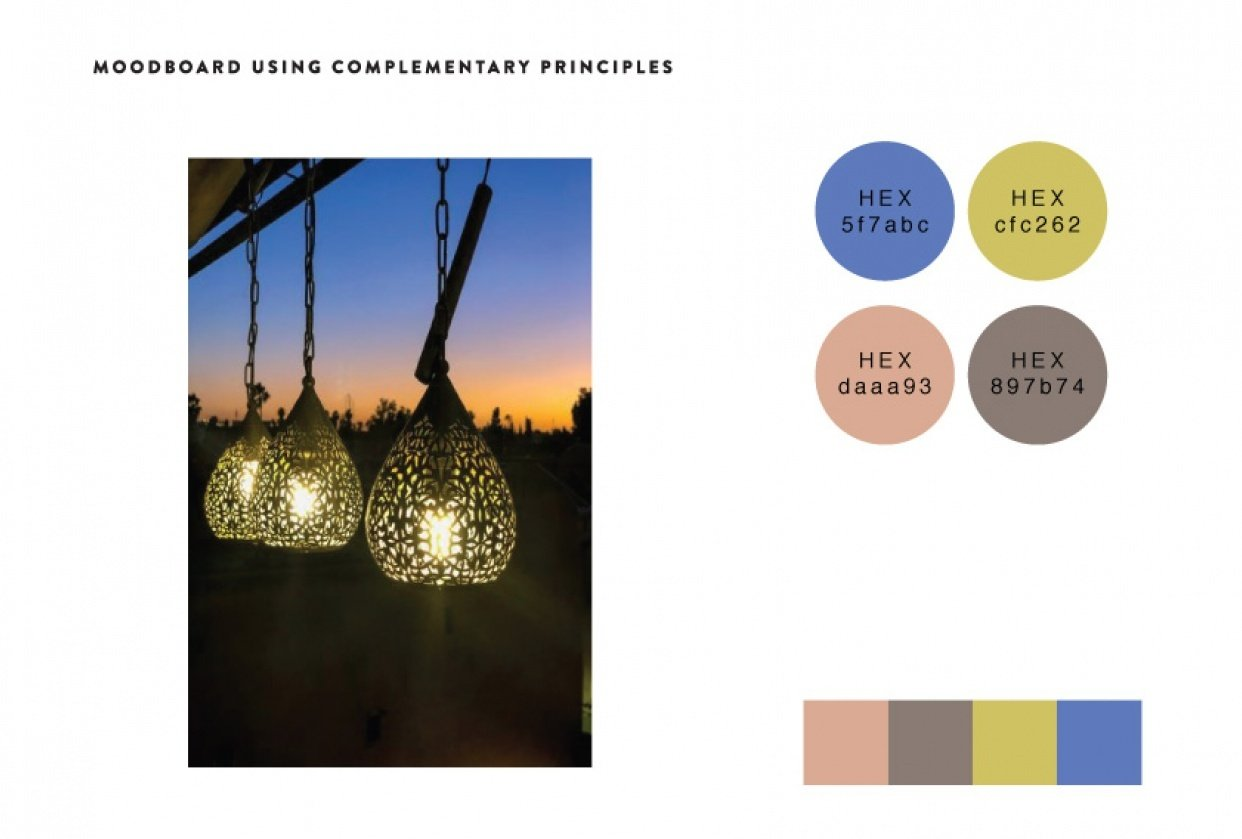 Moodboard: Complementary Principles - student project