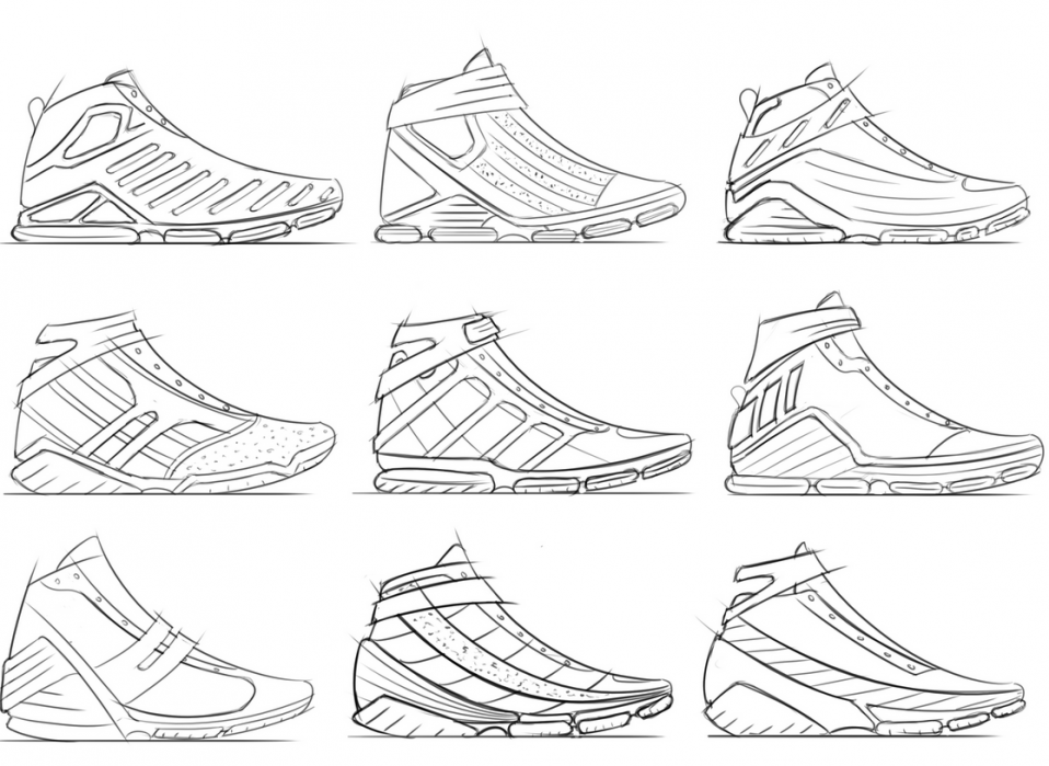 Footwear Sketches - student project