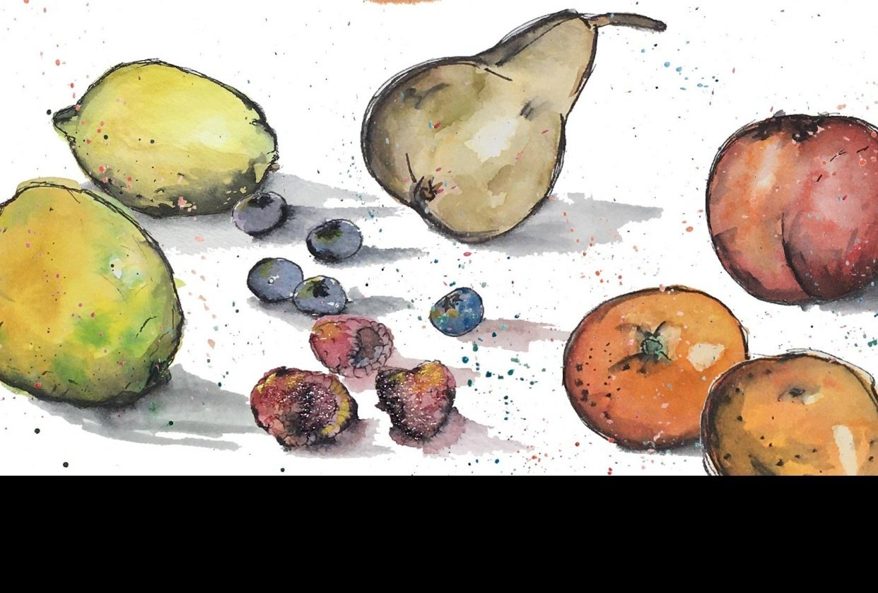 Fruits (and onion) - student project