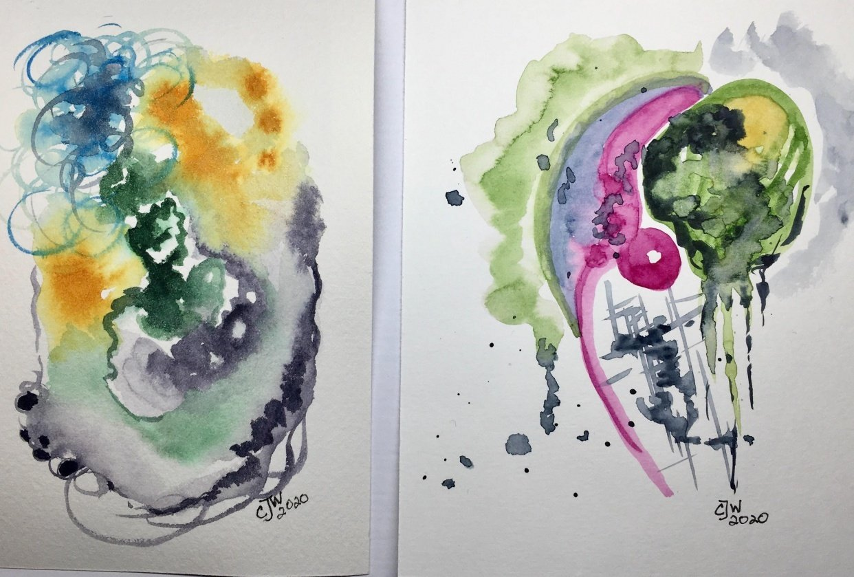 First Attempts at Abstract Art - student project