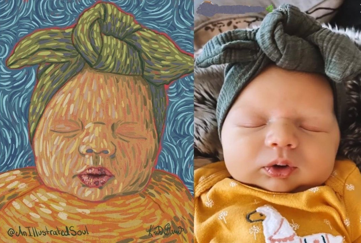 Digital Baby Portrait - student project