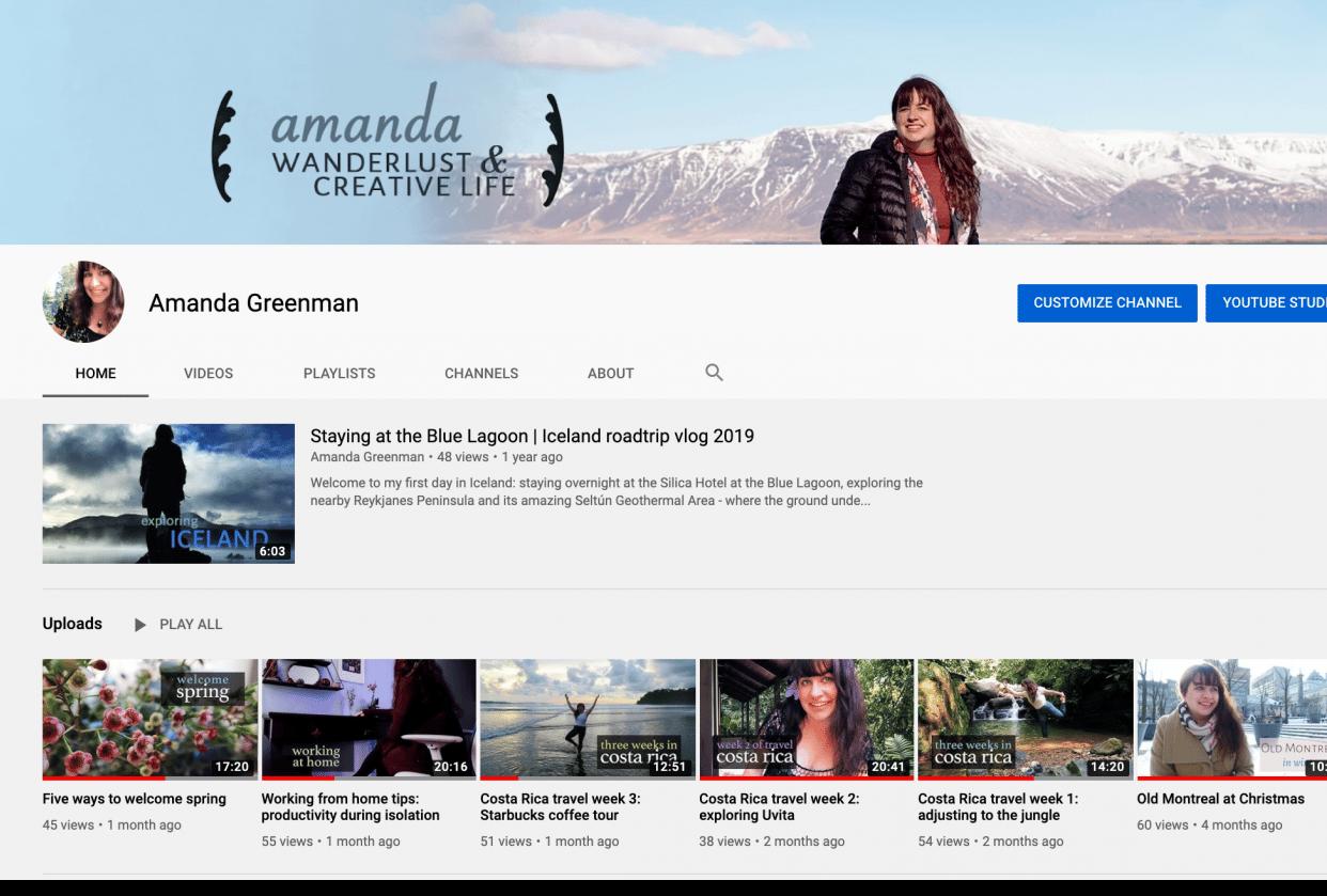 amanda: wanderlust & creative life - student project