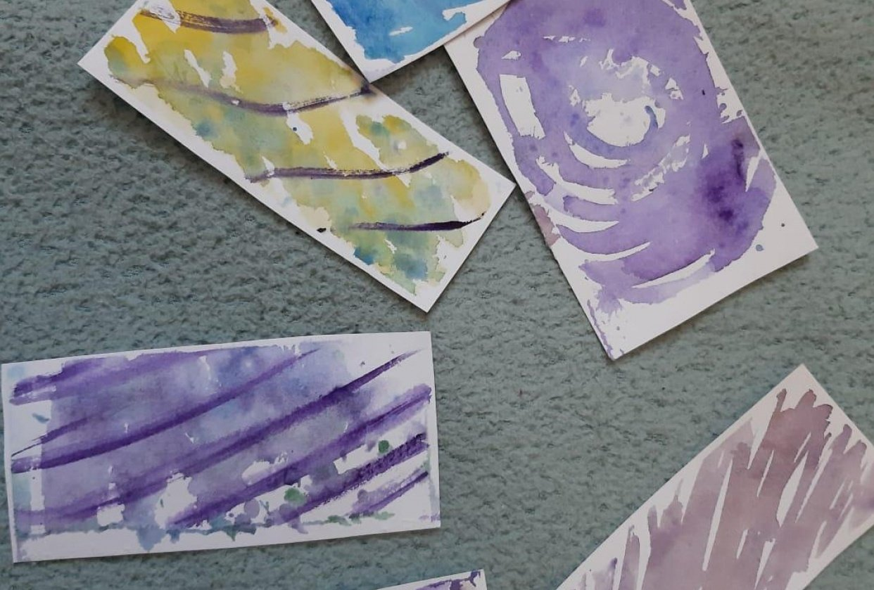 Watercolour Birthday Cards - student project