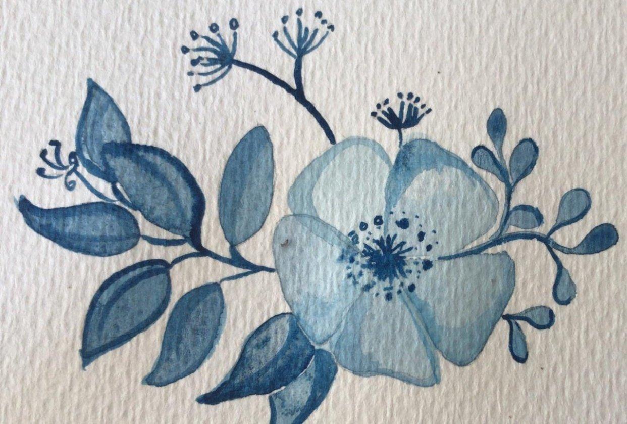 Monochrome Floral - student project