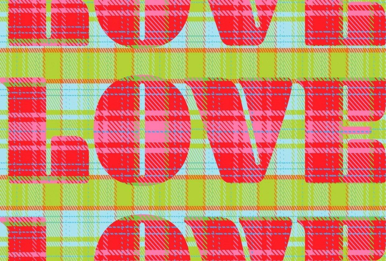 love tartan pattern - student project