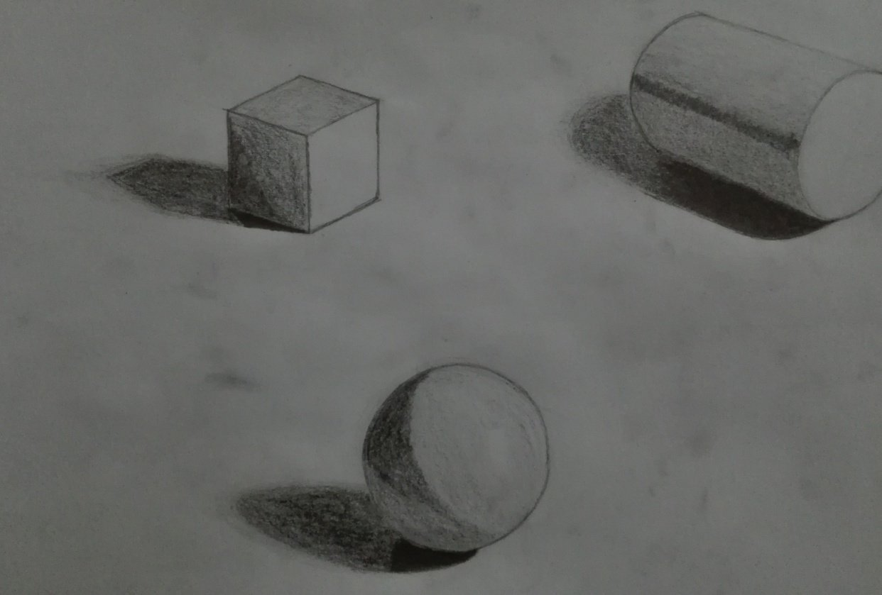 Shading Fundamentals / Drawing with Dramatic Light and Shadow - student project