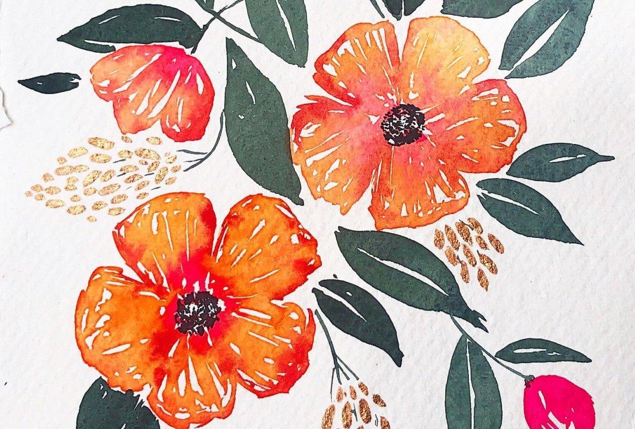 Joyful summer flowers - student project
