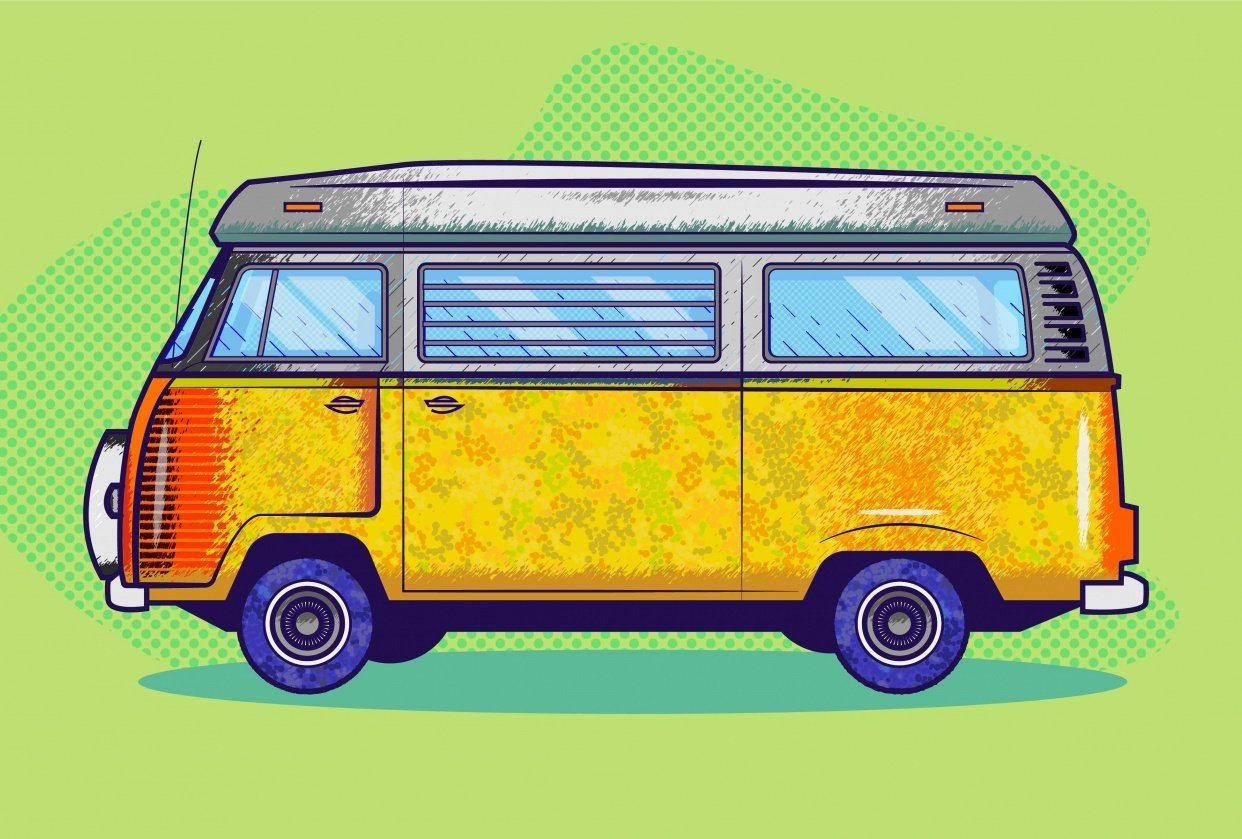 Learn Illustrator - VW Van - student project