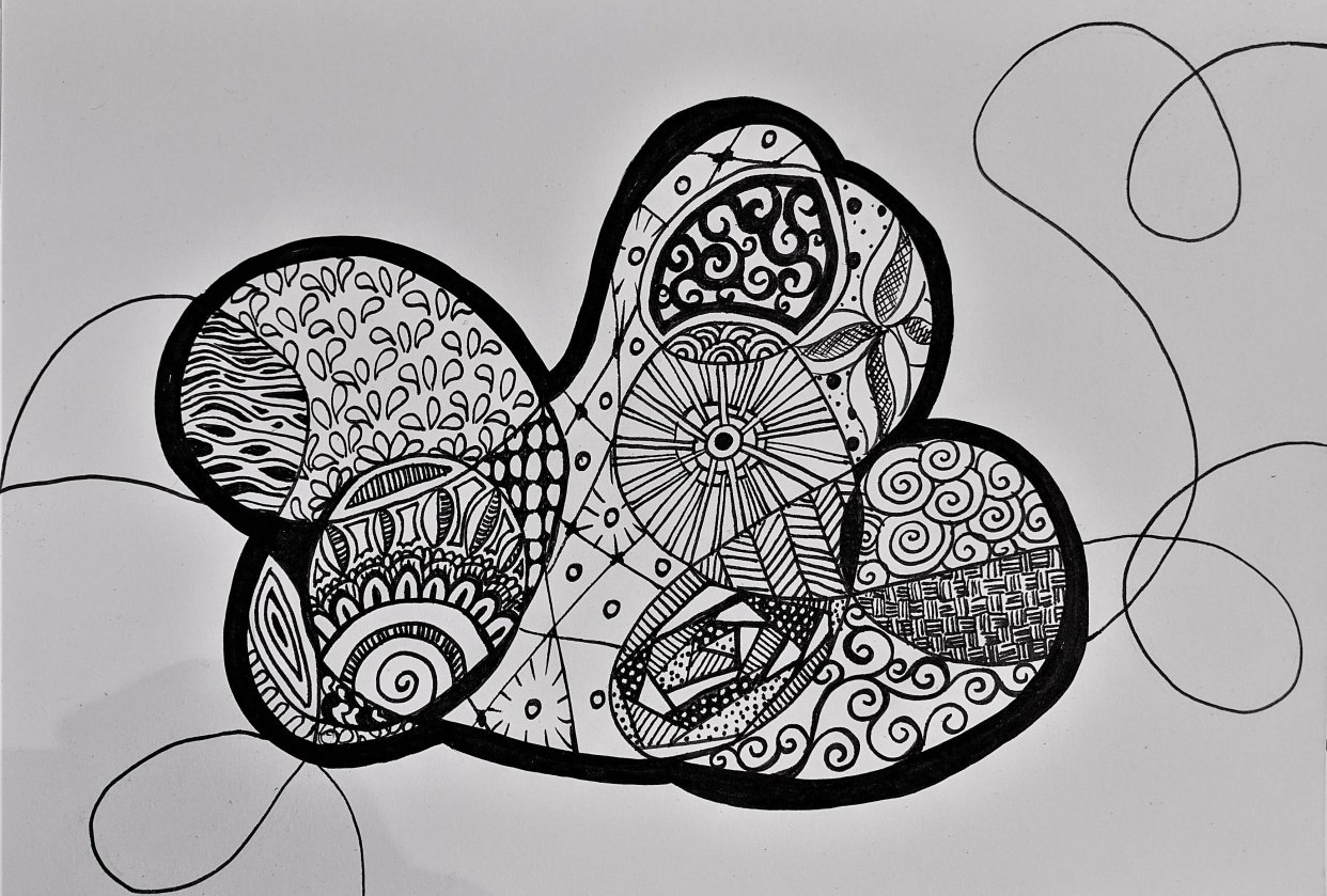 Abstract doodling progress Pictures - student project