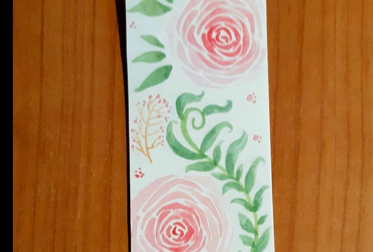 Roses Bookmark - student project