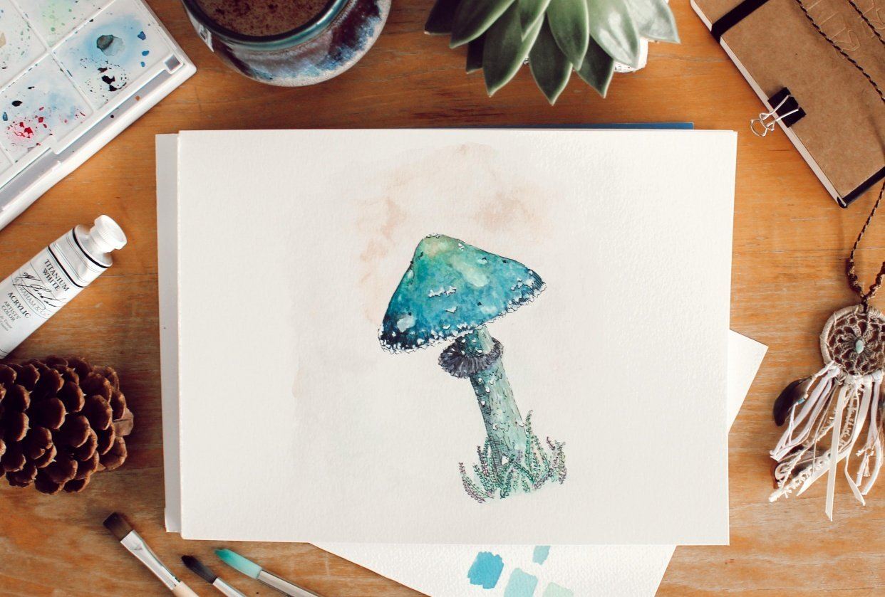 Watercolor in the Woods - student project