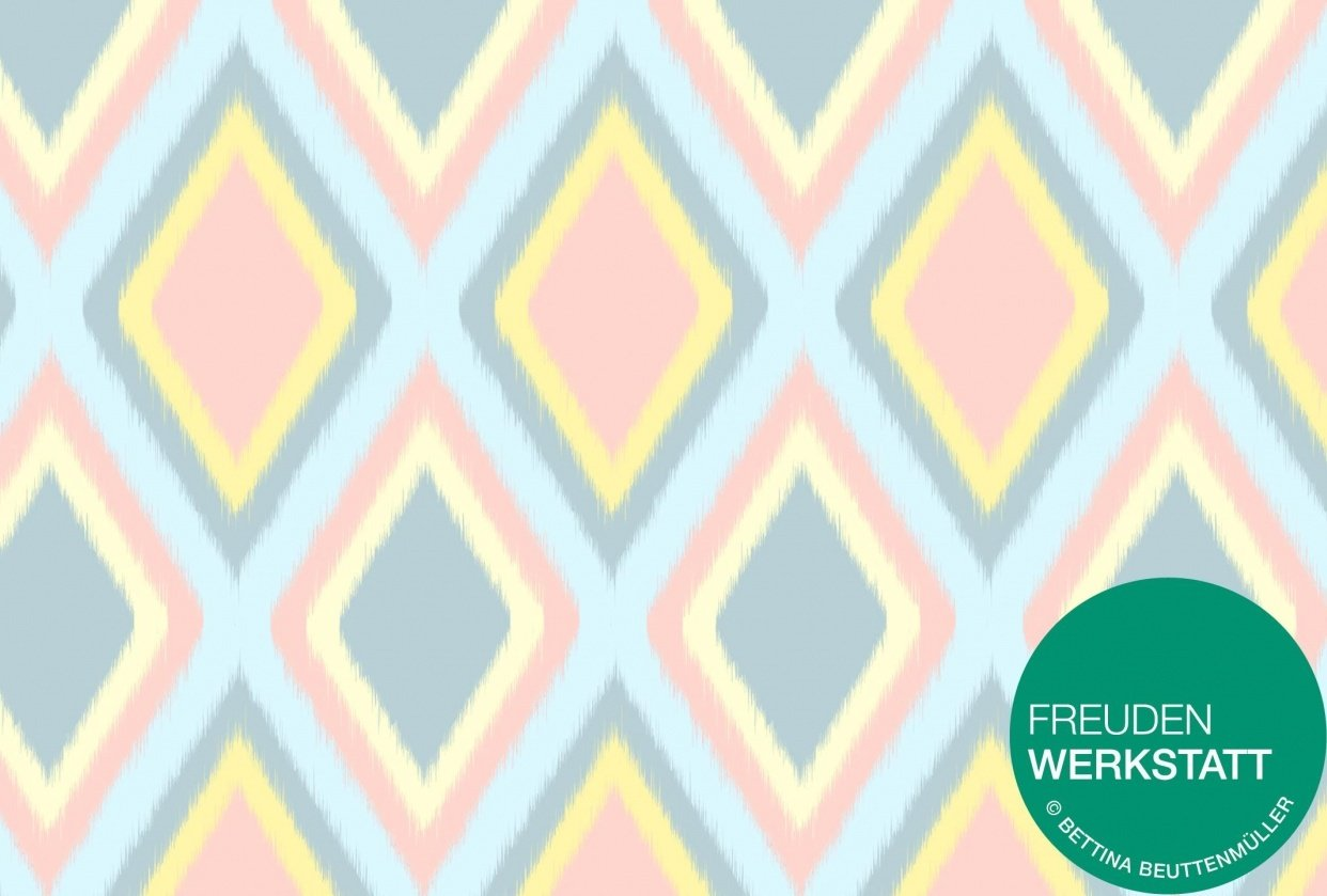 Pastell Ikat Patterns - student project