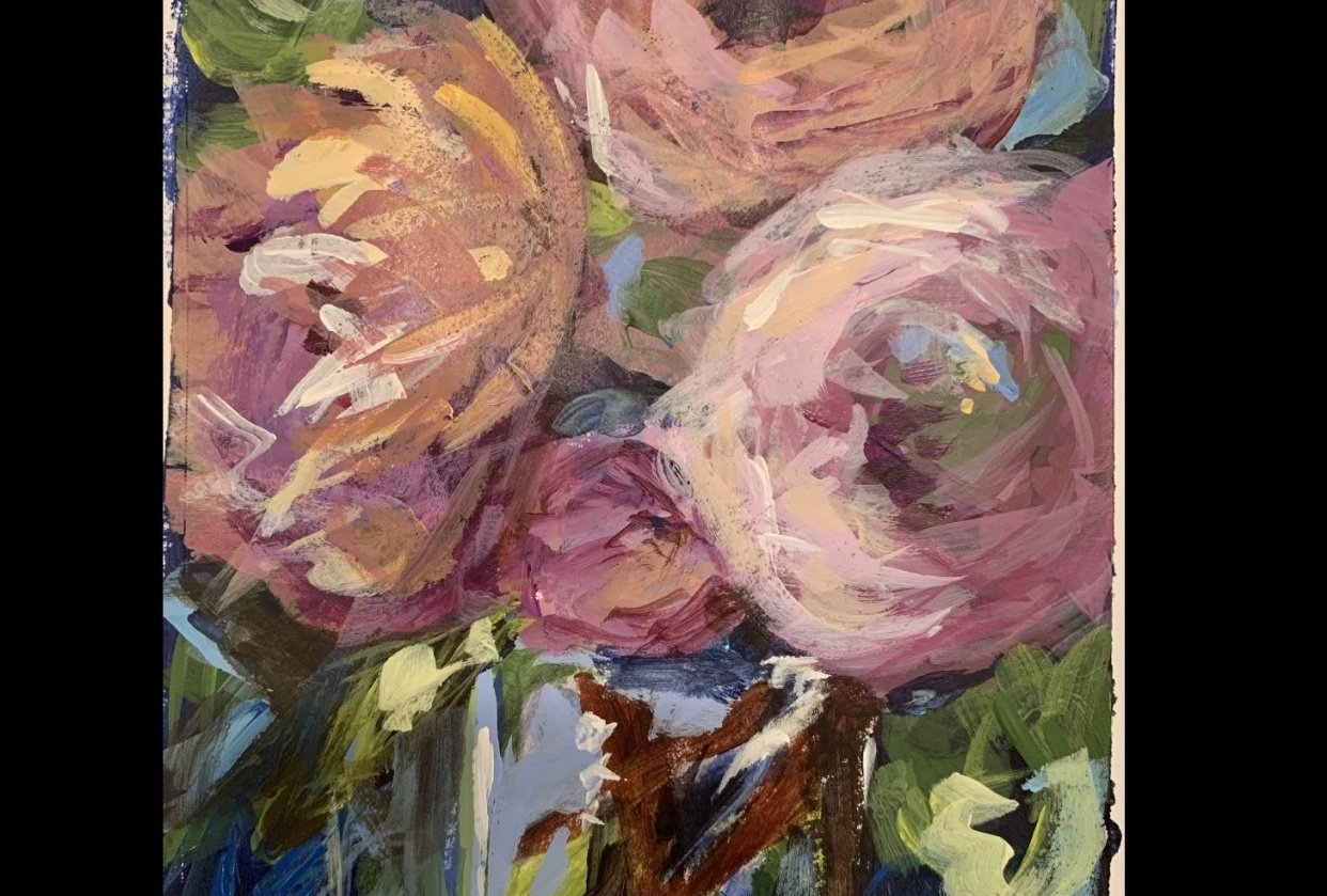 Spring Abstract Flowers #1 - student project