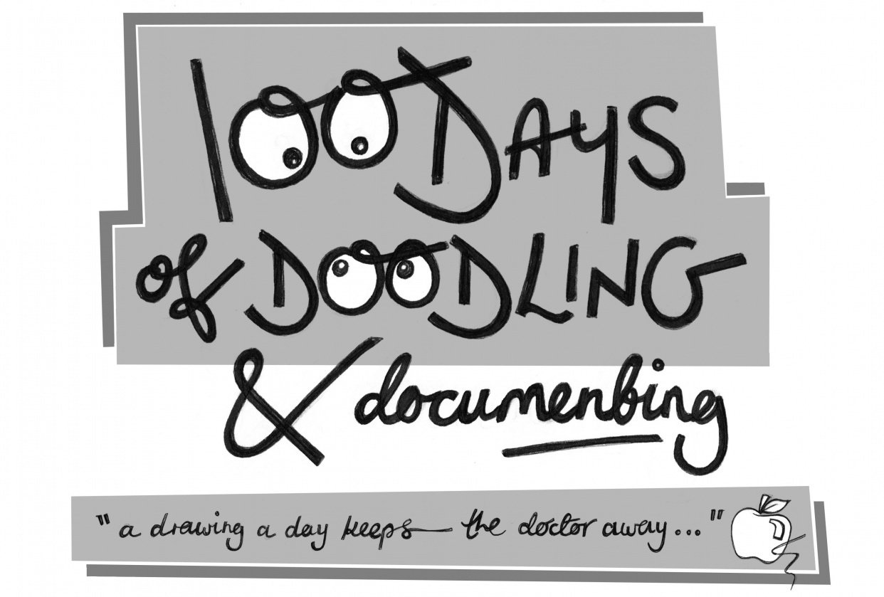 100 DAYS of DOODLING and DOCUMENTING - student project