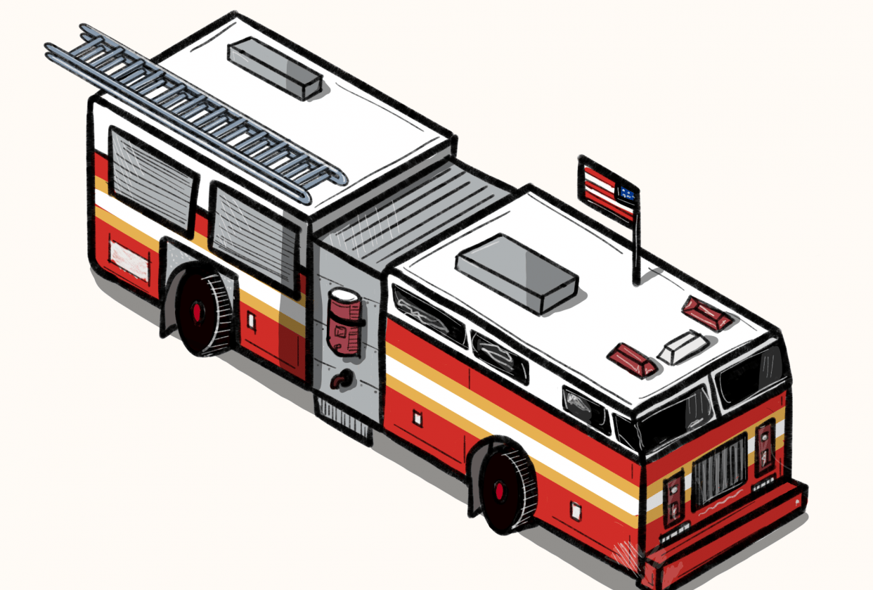 Isometric Fire truck - student project