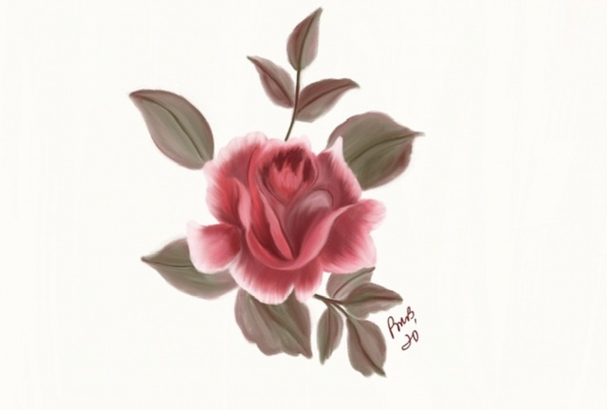 Painterly Flowers - student project
