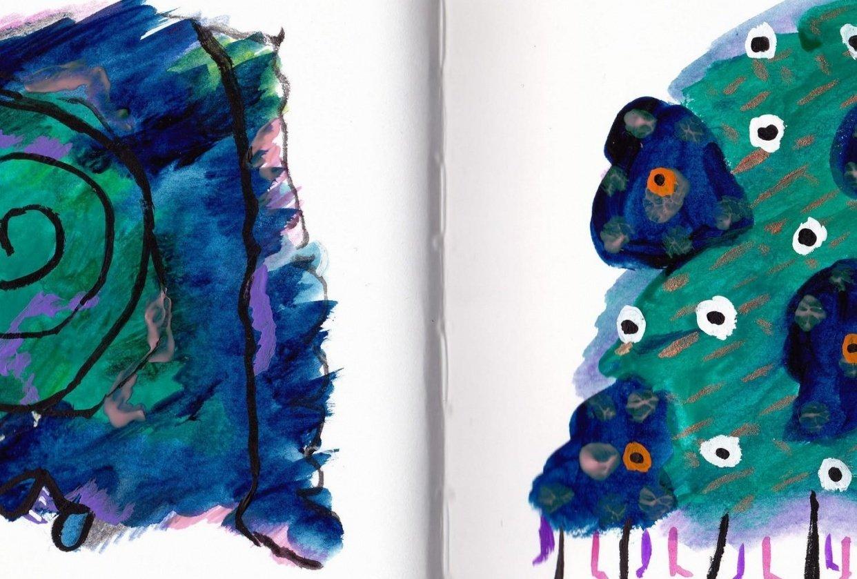 Gouache Creatures - student project