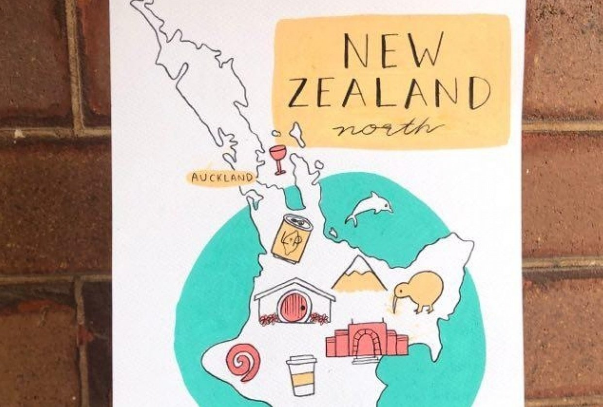 New Zealand Map - student project