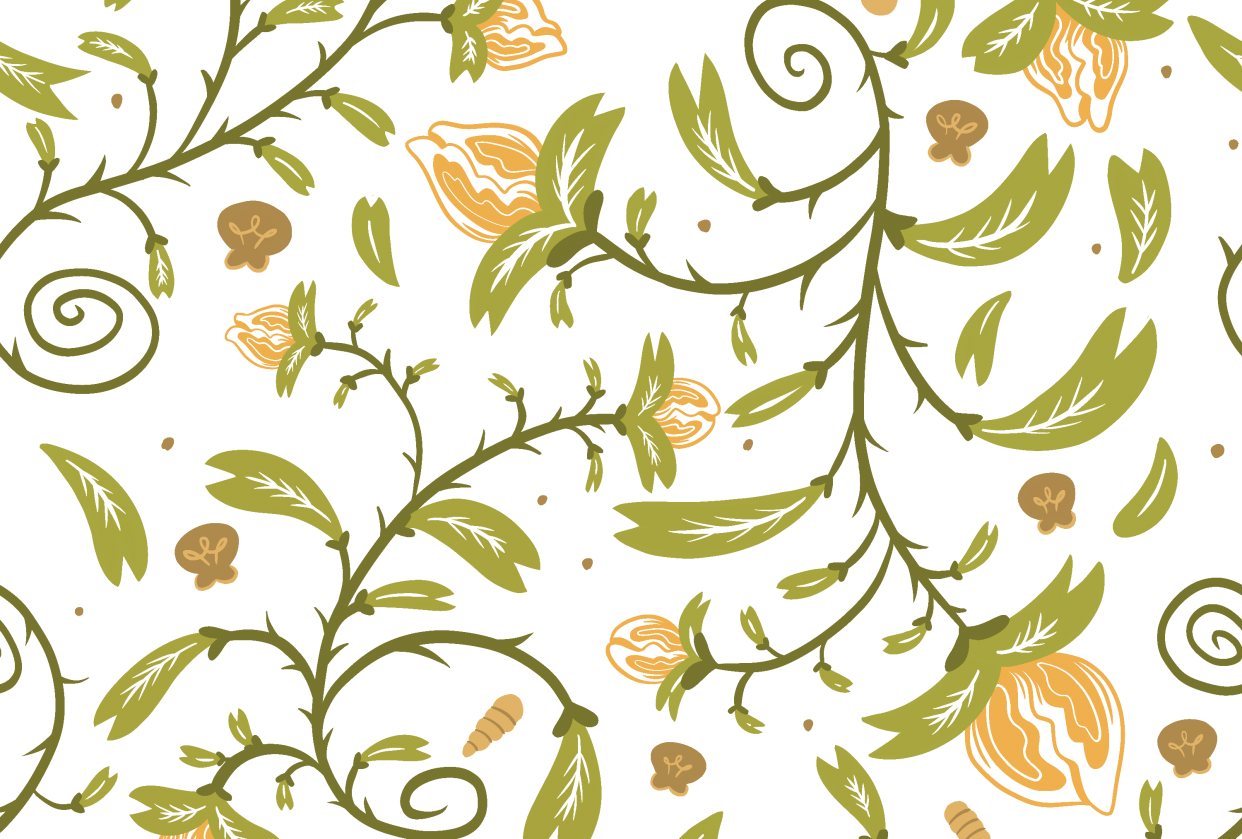 Repeating Flower Pattern Design - student project