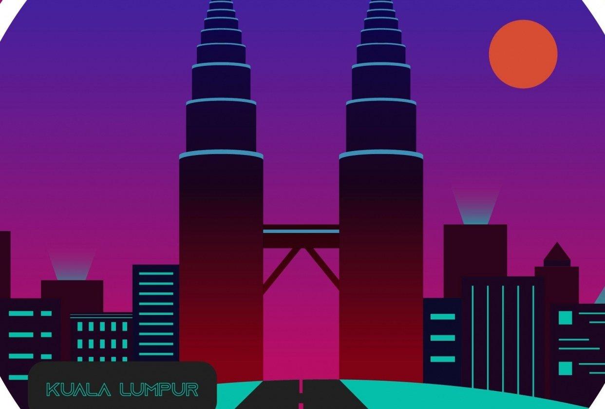 Cyberpunk city - student project