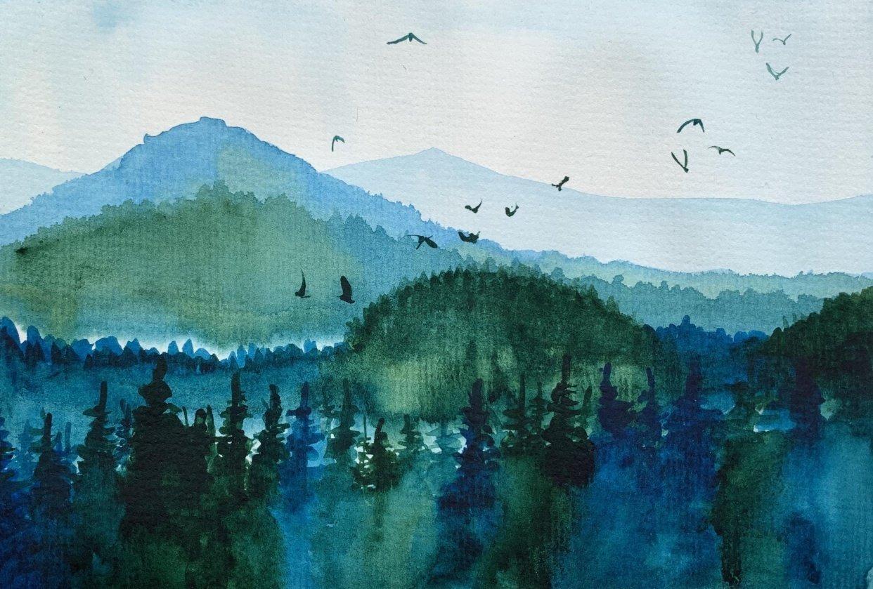 Misty Mountains Landscape - student project