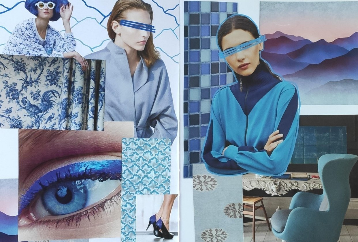 Exploring blue colour - student project