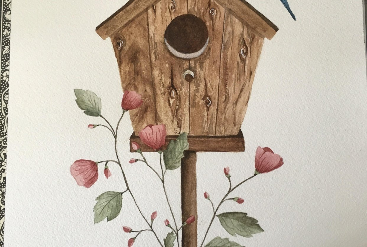Birdhouse scene - student project