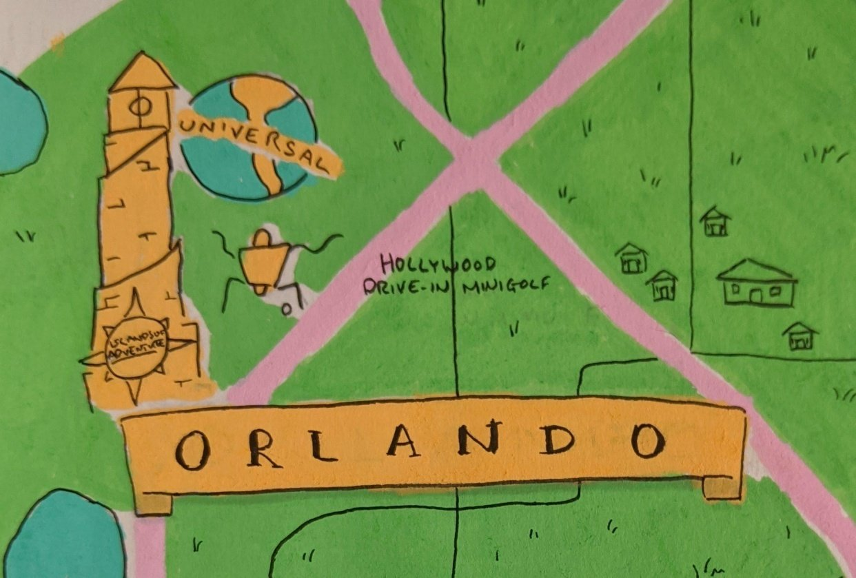 Orlando and New Orleans Travel Maps - student project