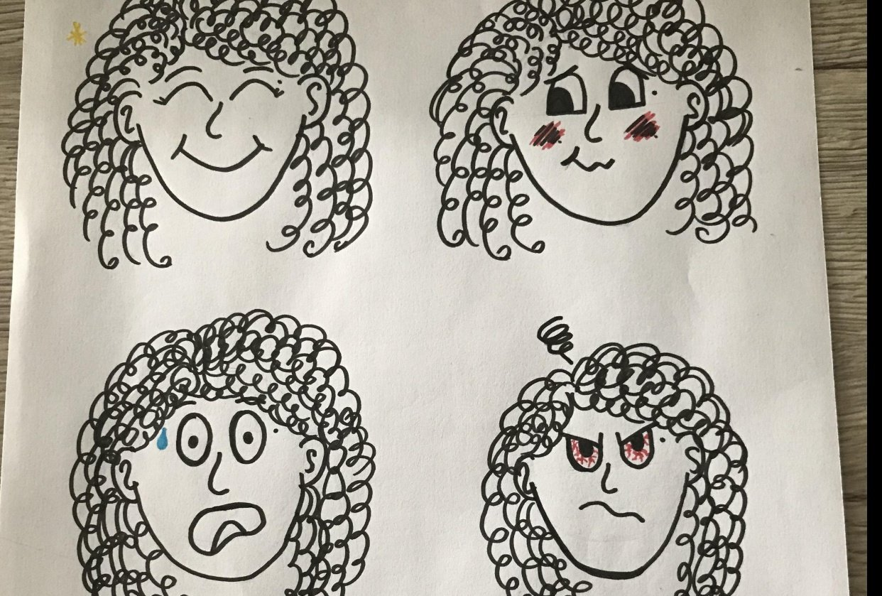 Cartooning, self portraits and stuff - student project