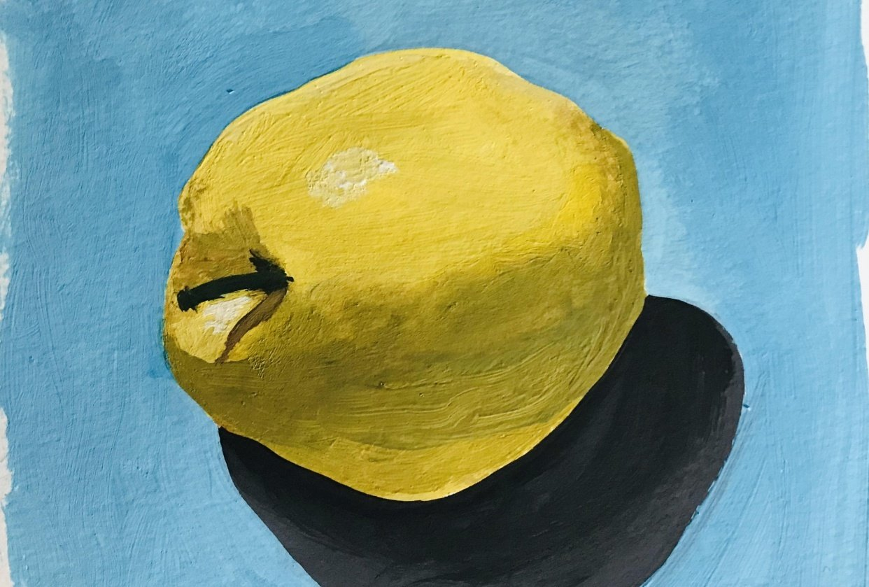 Apfel in Gouache - student project