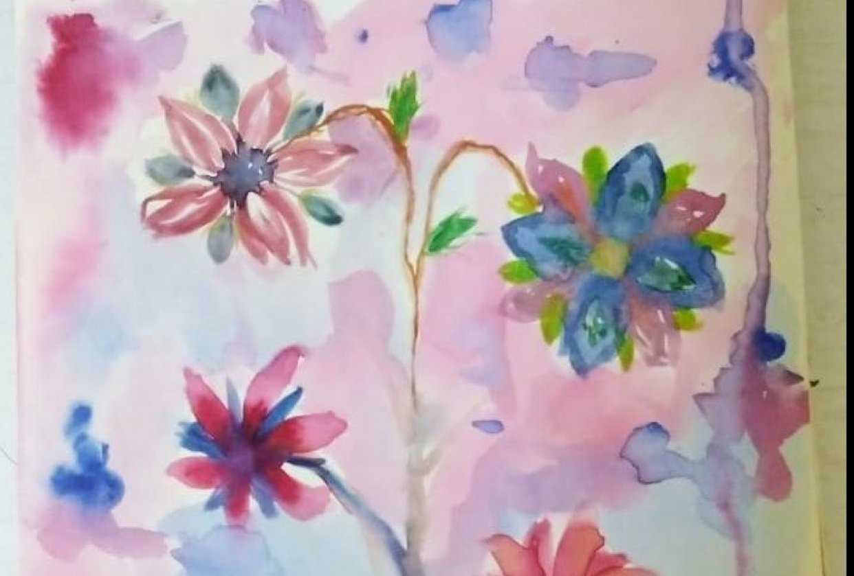 2 projects of intuitive painting - student project