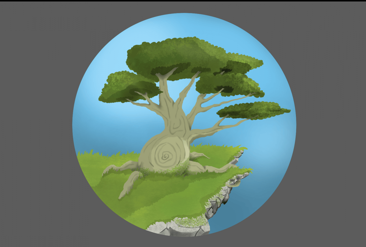 Tree & skull - student project