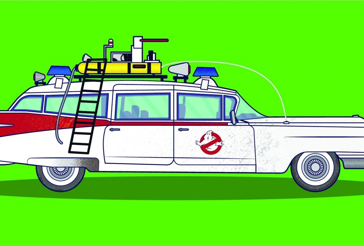 Ecto 1 (Ghostbusters) - student project