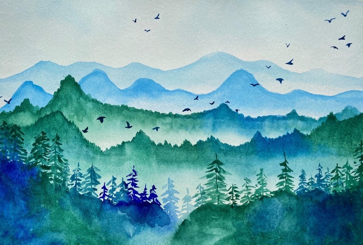 Misty Mountains - student project